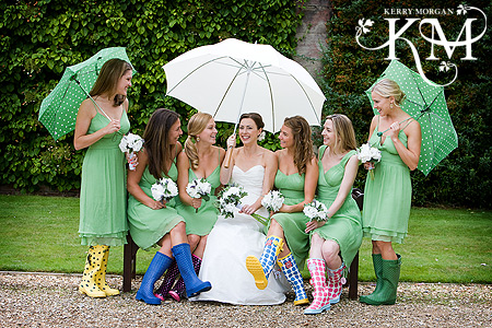 Bridesmaid rain boots